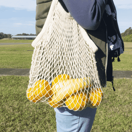 Cotton Netted Tote Bag